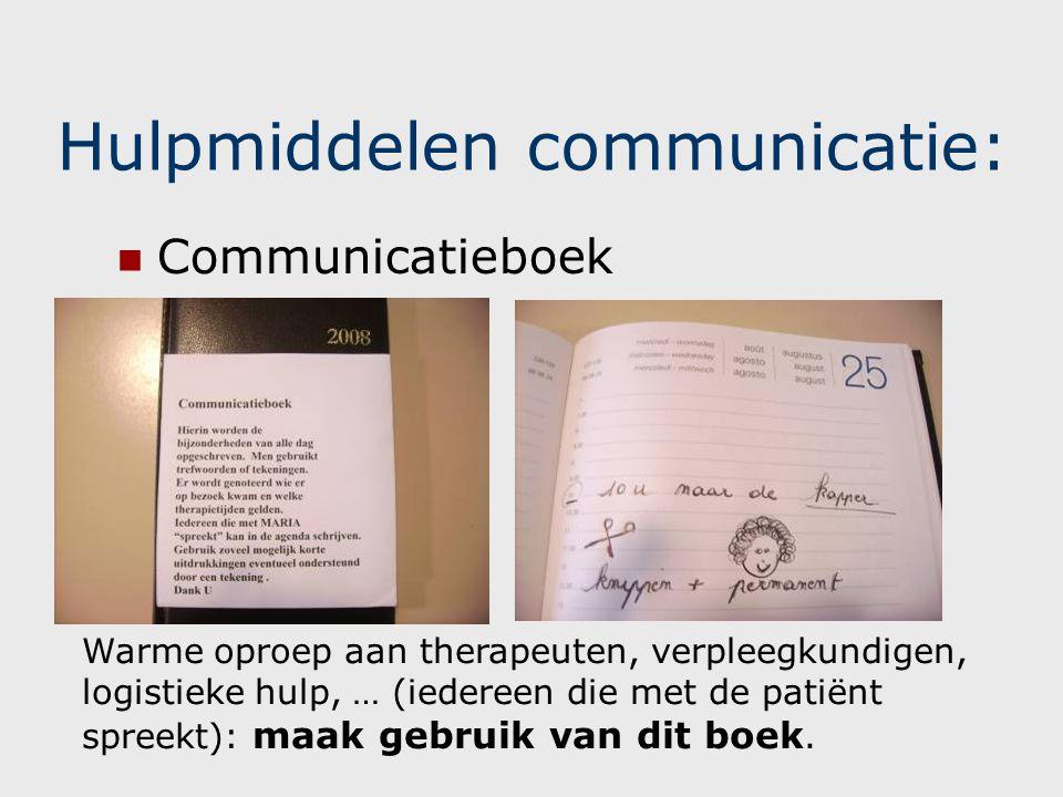 Hulpmiddelen communicatie:
