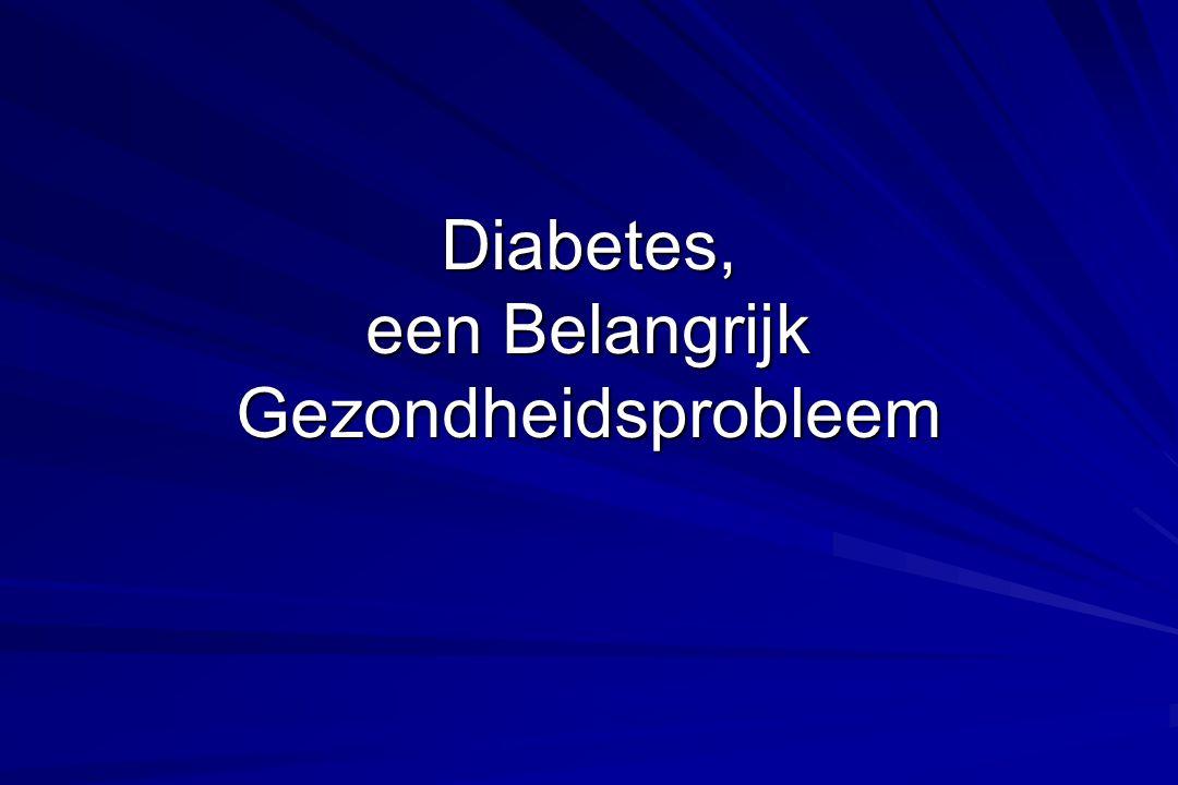 Diabetes, een Belangrijk Gezondheidsprobleem