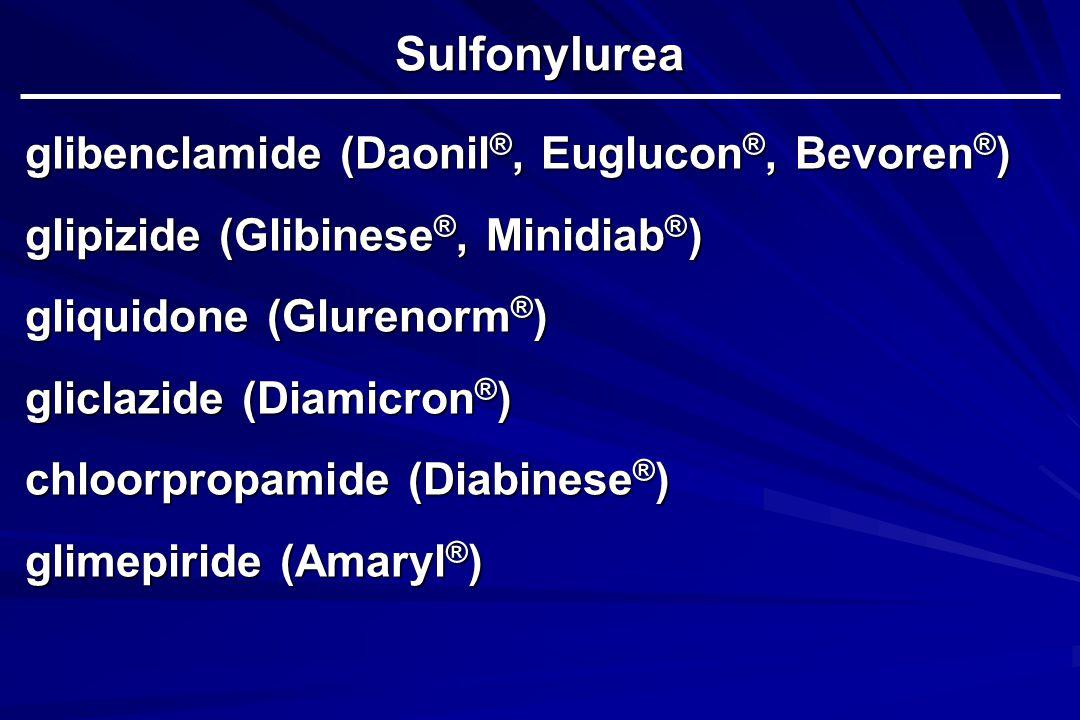 Sulfonylurea glibenclamide (Daonil®, Euglucon®, Bevoren®)