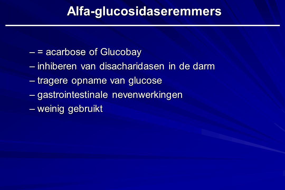Alfa-glucosidaseremmers