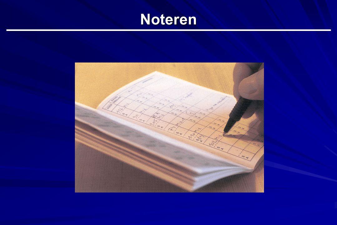 Noteren Dia 24 :het spreekt vanzelf dat alle bekomen waarden en opmerkingen genoteerd worden in het dagboek.