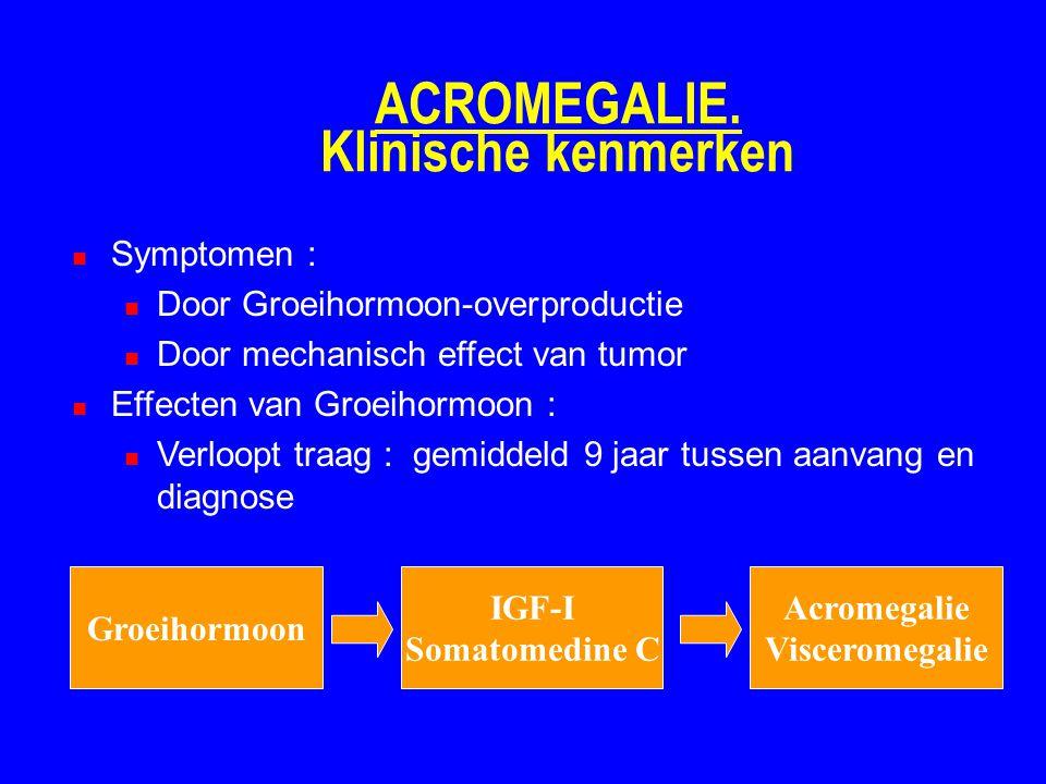 ACROMEGALIE. Klinische kenmerken