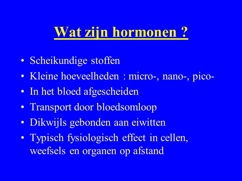 Wat zijn hormonen Scheikundige stoffen