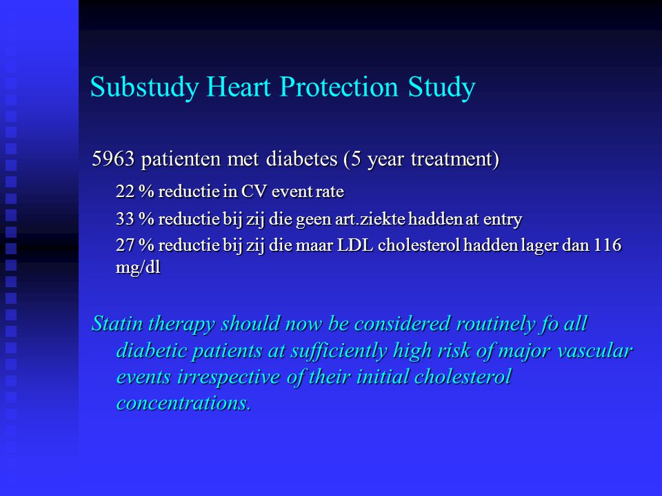 Substudy Heart Protection Study