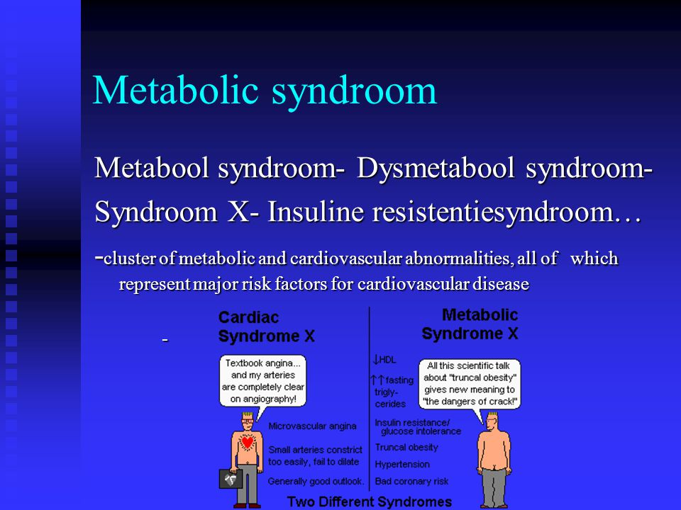 Metabolic syndroom Metabool syndroom- Dysmetabool syndroom-