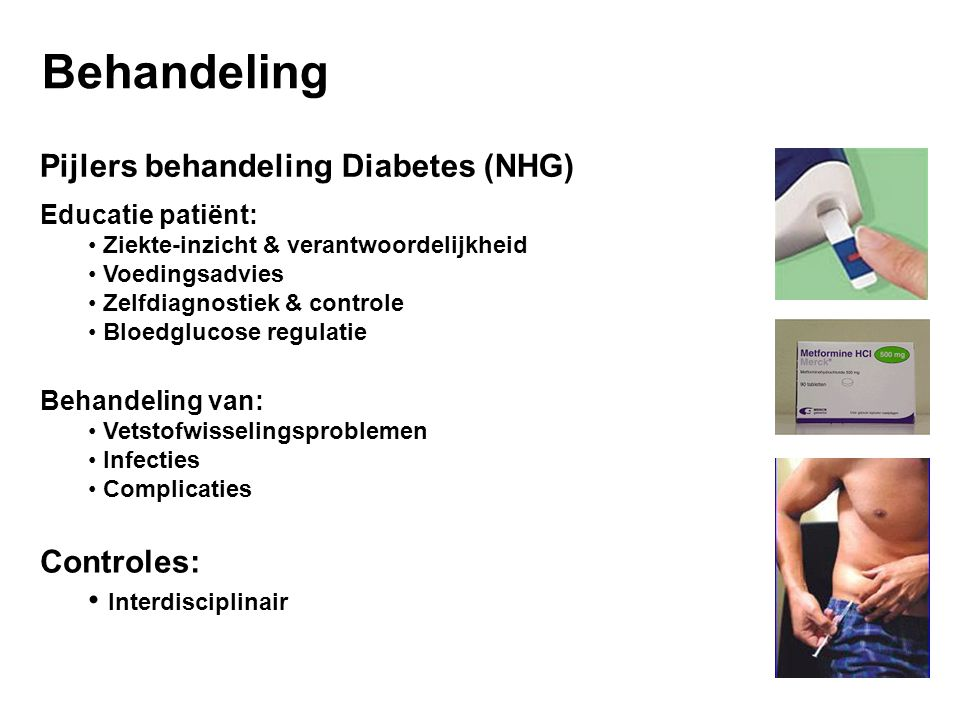 Behandeling Pijlers behandeling Diabetes (NHG) Controles: