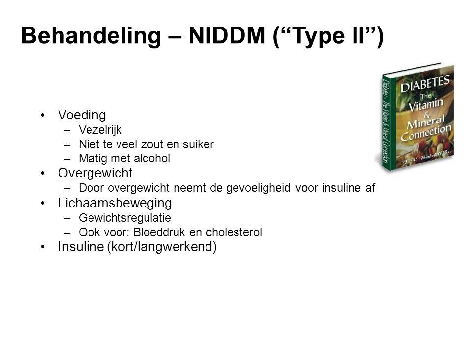 Behandeling – NIDDM ( Type II )