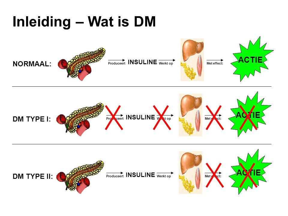 Inleiding – Wat is DM ACTIE ACTIE ACTIE NORMAAL: DM TYPE I:
