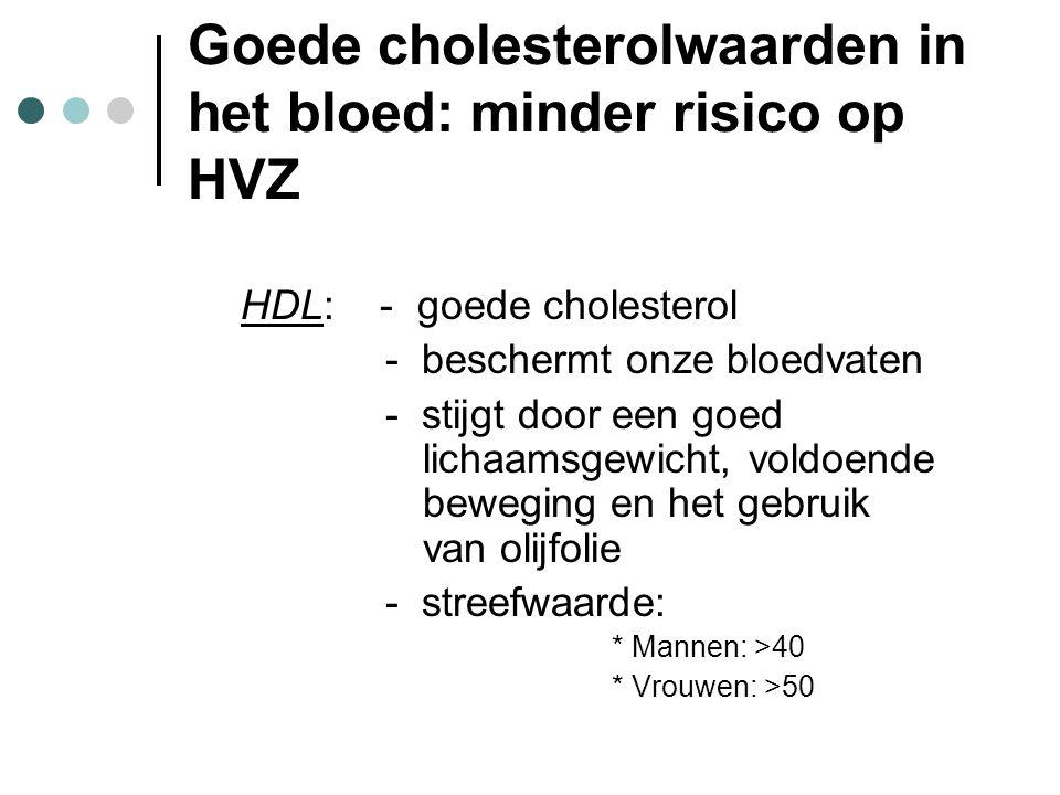 Goede cholesterolwaarden in het bloed: minder risico op HVZ