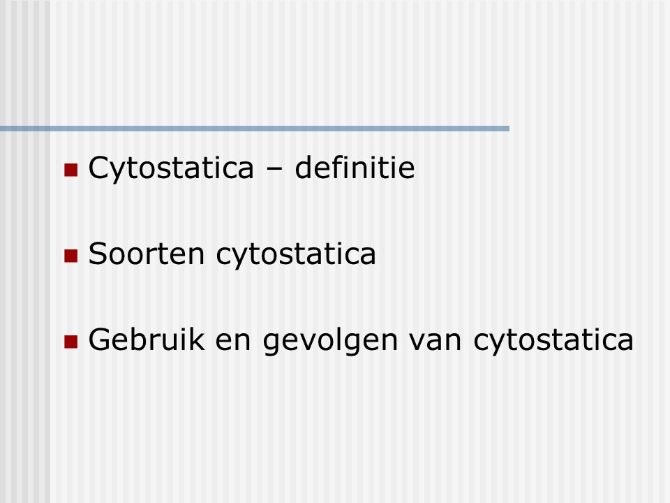 Cytostatica – definitie