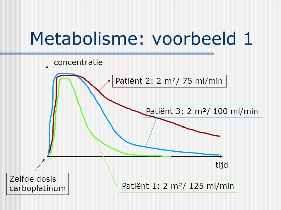 Metabolisme: voorbeeld 1