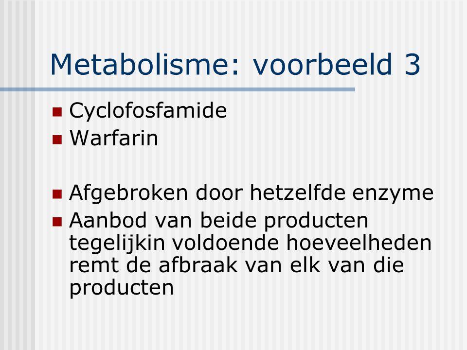 Metabolisme: voorbeeld 3