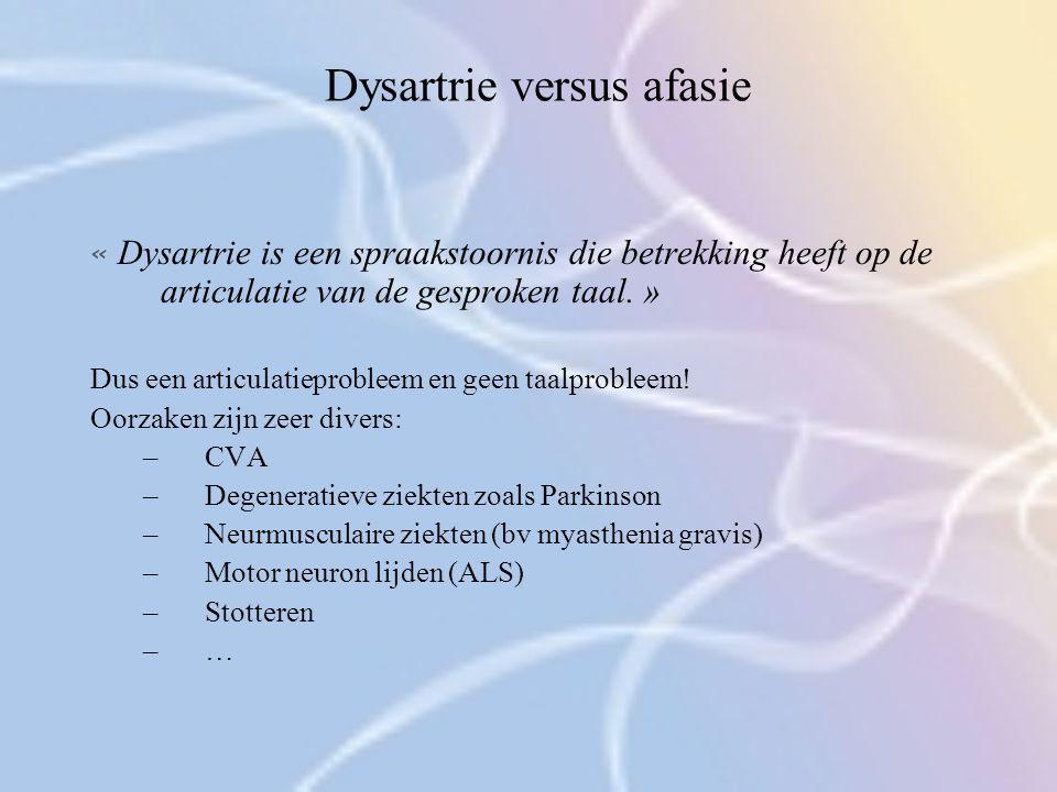 Dysartrie versus afasie