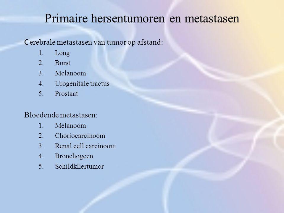 Primaire hersentumoren en metastasen