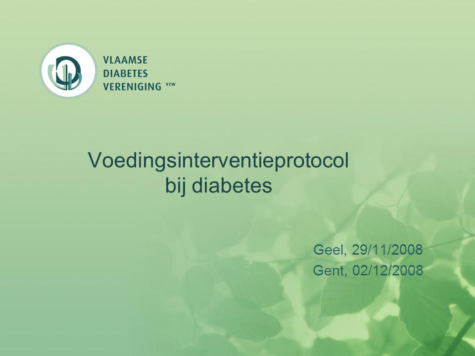 Voedingsinterventieprotocol bij diabetes