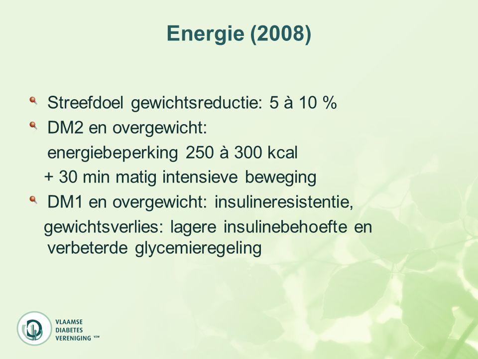 Energie (2008) Streefdoel gewichtsreductie: 5 à 10 %
