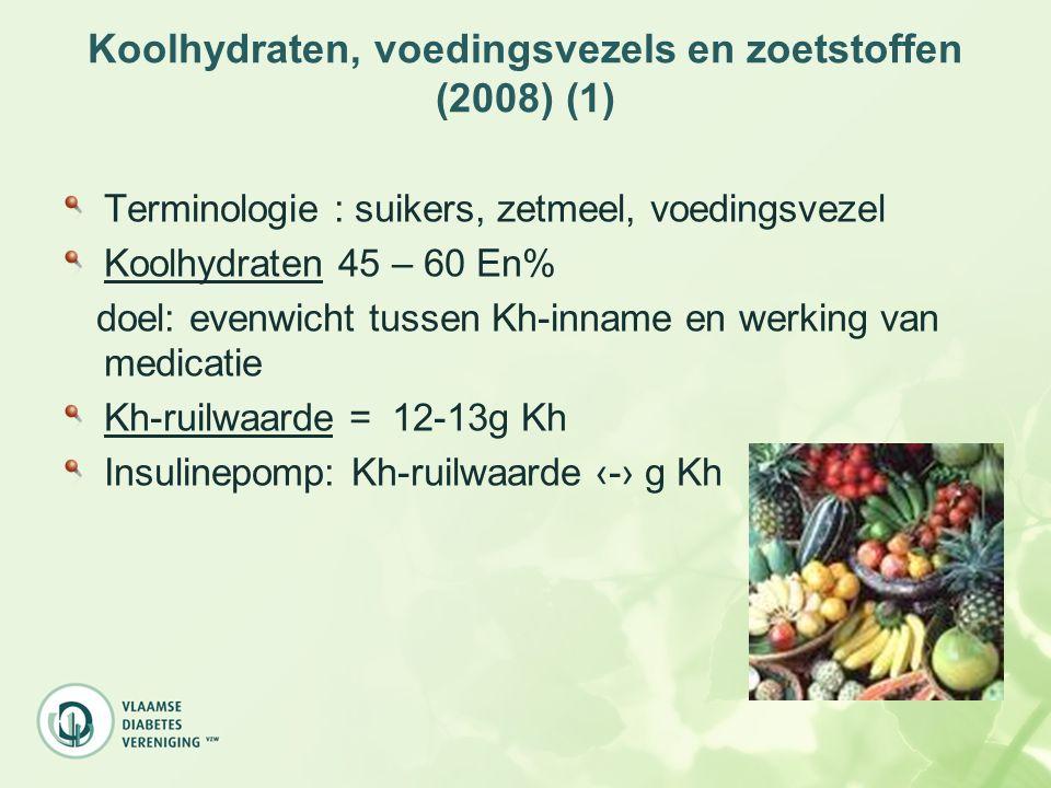 Koolhydraten, voedingsvezels en zoetstoffen (2008) (1)