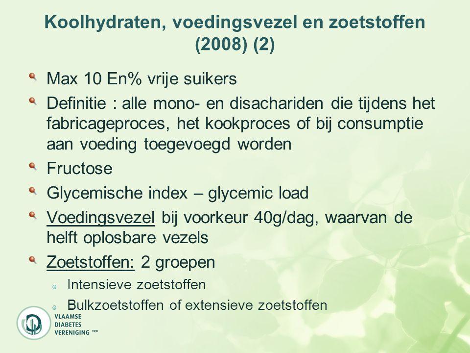 Koolhydraten, voedingsvezel en zoetstoffen (2008) (2)