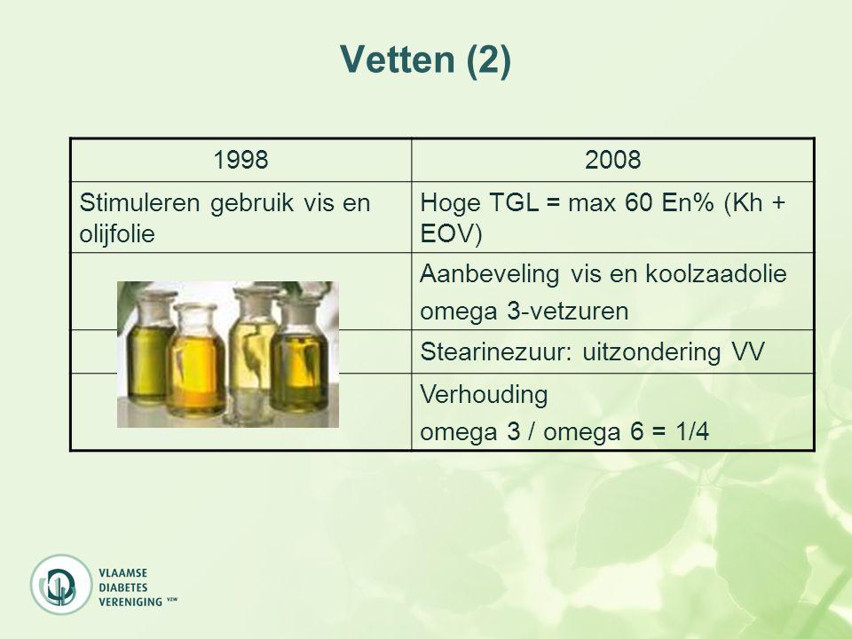 Vetten (2) 1998 2008 Stimuleren gebruik vis en olijfolie