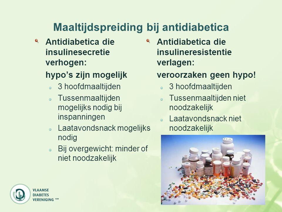Maaltijdspreiding bij antidiabetica