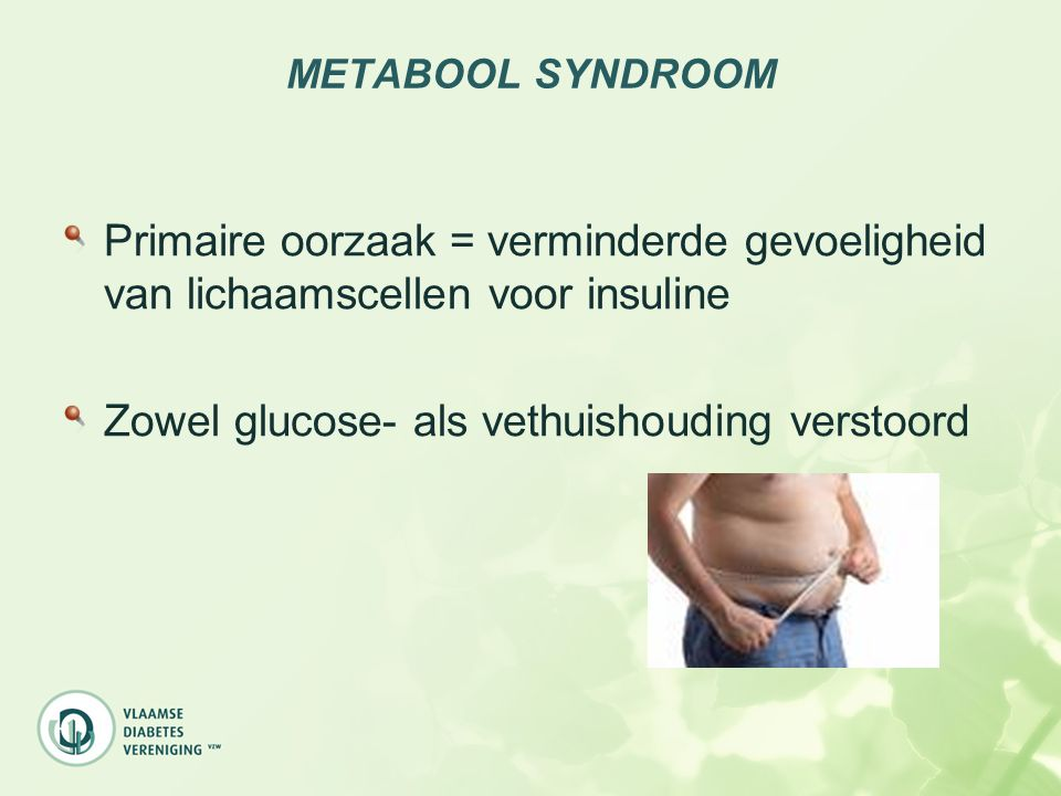 Zowel glucose- als vethuishouding verstoord