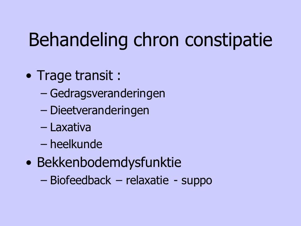 Behandeling chron constipatie