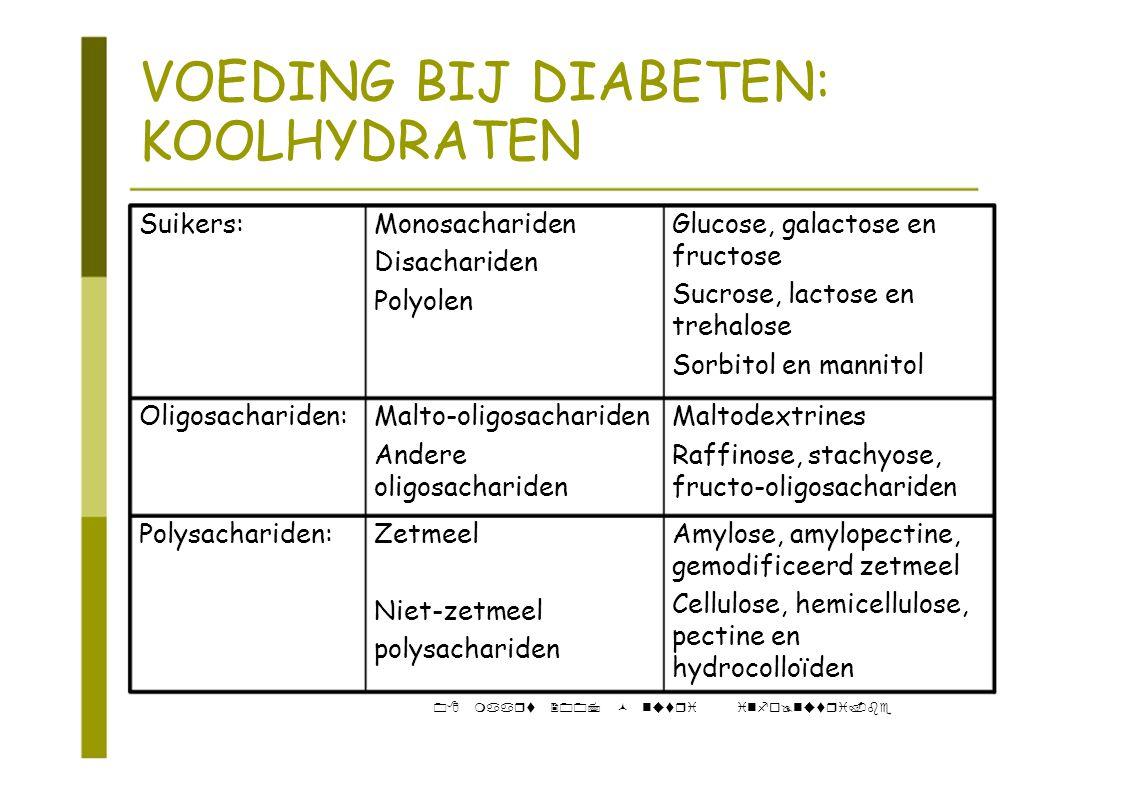 VOEDING BIJ DIABETEN: KOOLHYDRATEN