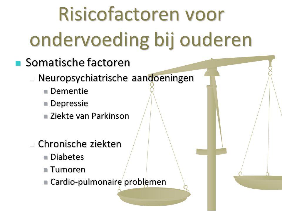 Risicofactoren voor ondervoeding bij ouderen