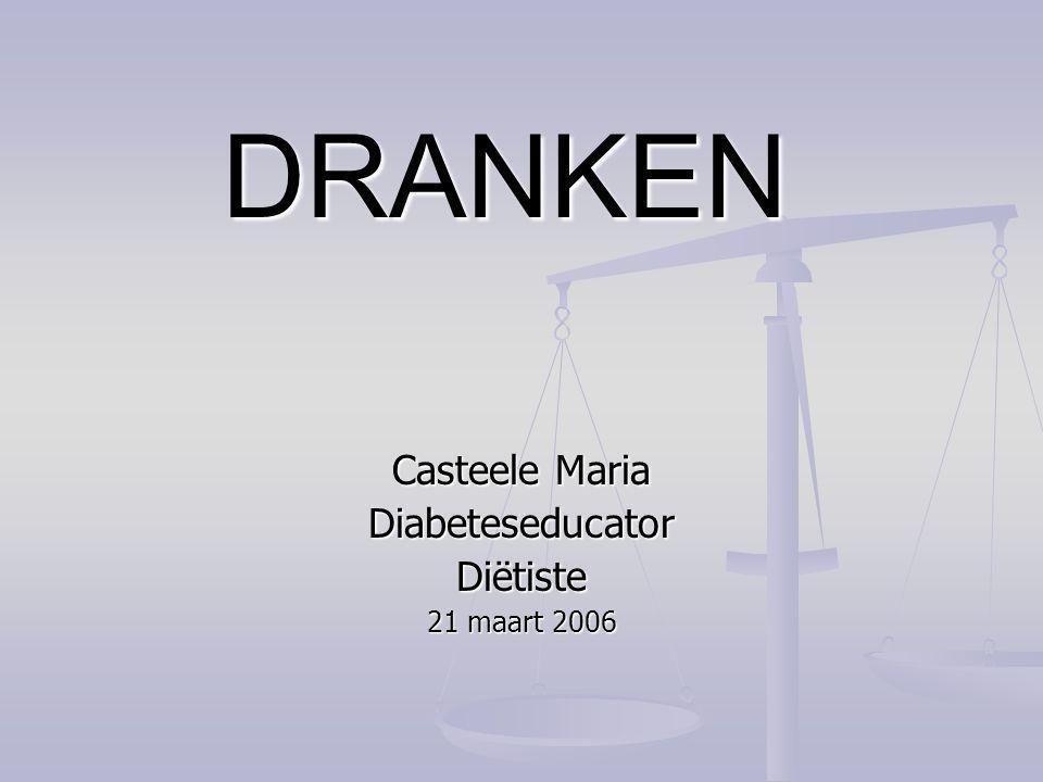 Casteele Maria Diabeteseducator Diëtiste 21 maart 2006