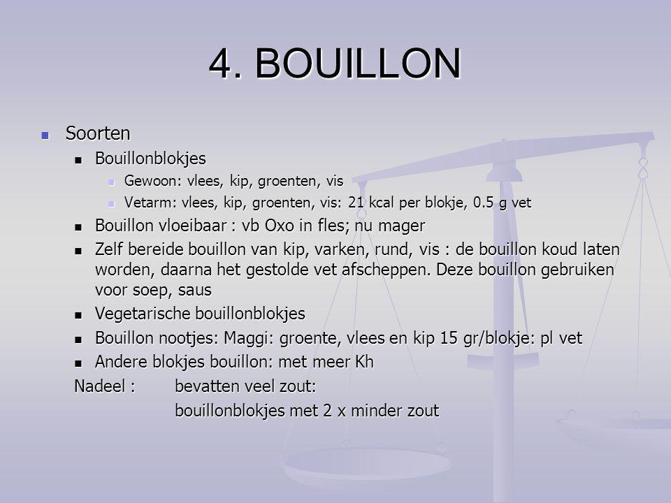 4. BOUILLON Soorten Bouillonblokjes