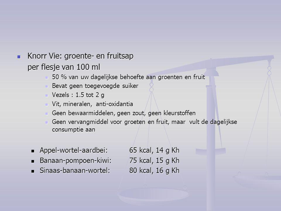 Knorr Vie: groente- en fruitsap per flesje van 100 ml