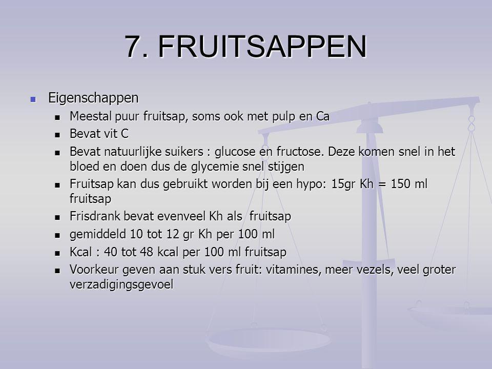 7. FRUITSAPPEN Eigenschappen