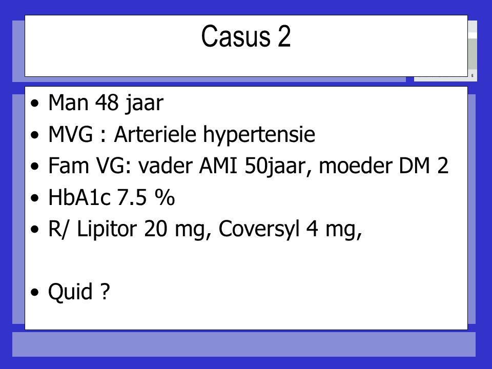 Casus 2 Man 48 jaar MVG : Arteriele hypertensie