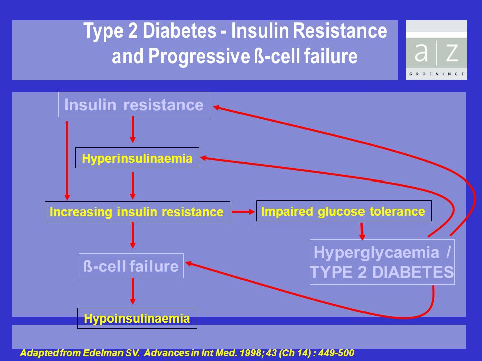 Type 2 Diabetes - Insulin Resistance and Progressive ß-cell failure