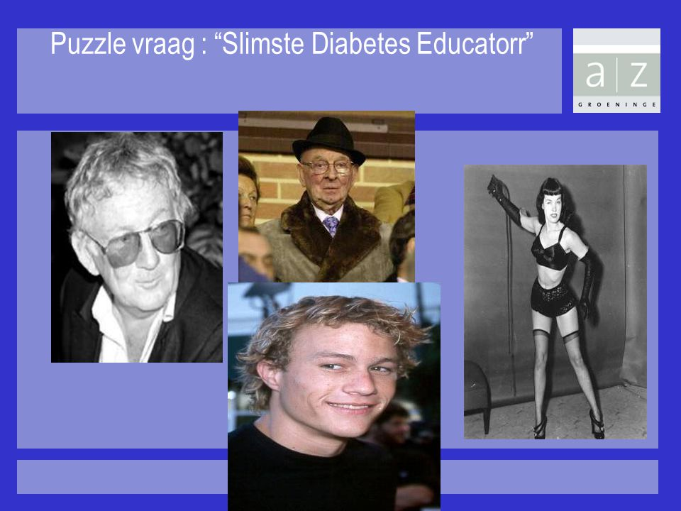 Puzzle vraag : Slimste Diabetes Educatorr