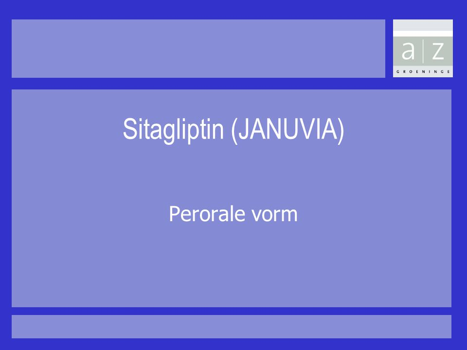 Sitagliptin (JANUVIA)