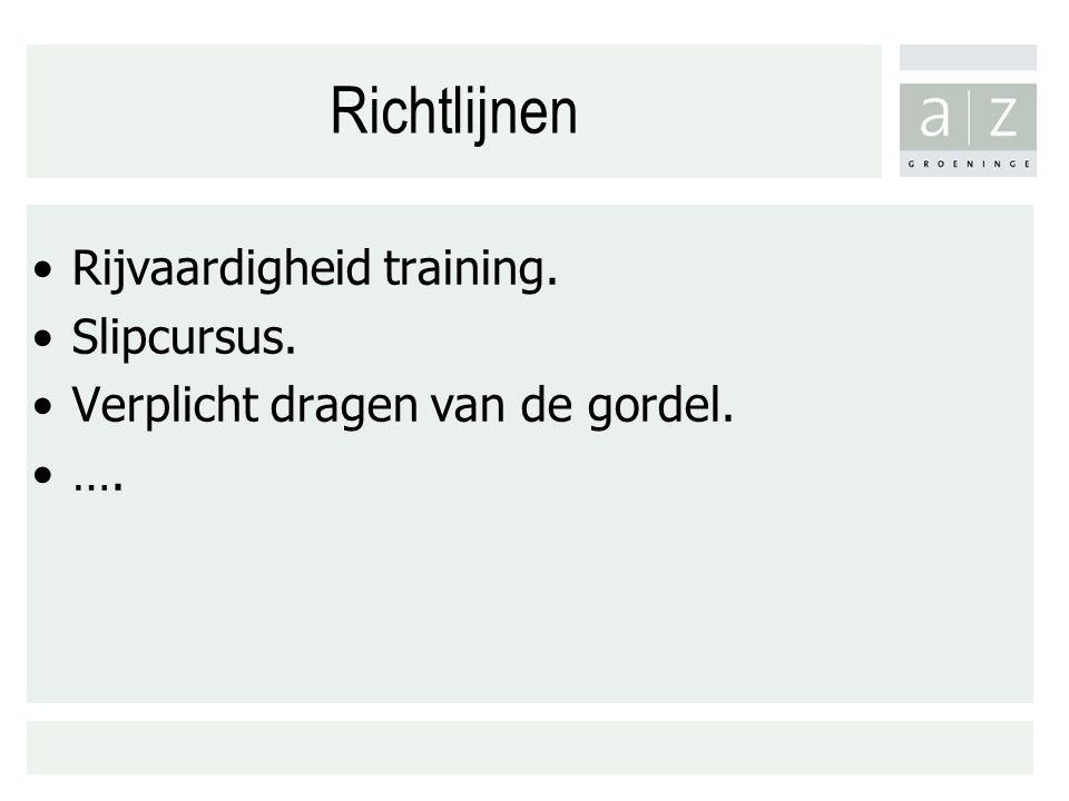 Richtlijnen Rijvaardigheid training. Slipcursus.