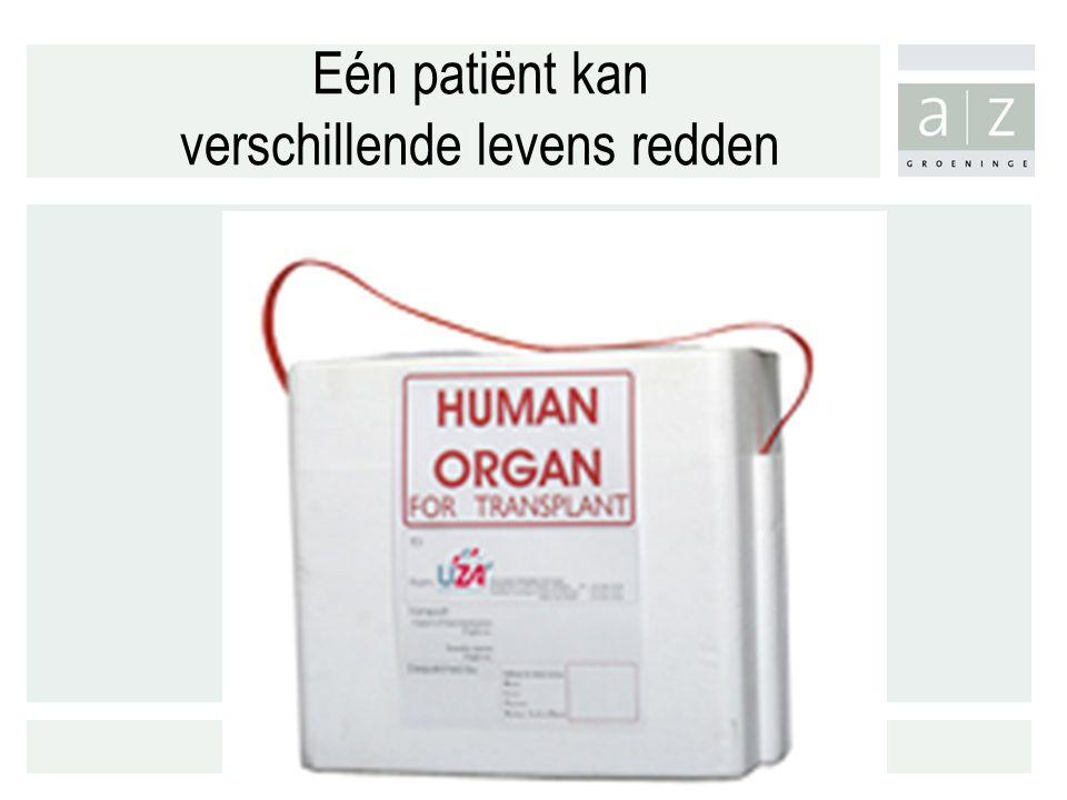 Eén patiënt kan verschillende levens redden