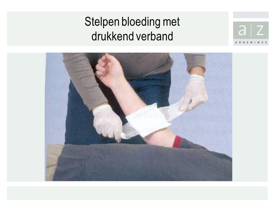 Stelpen bloeding met drukkend verband