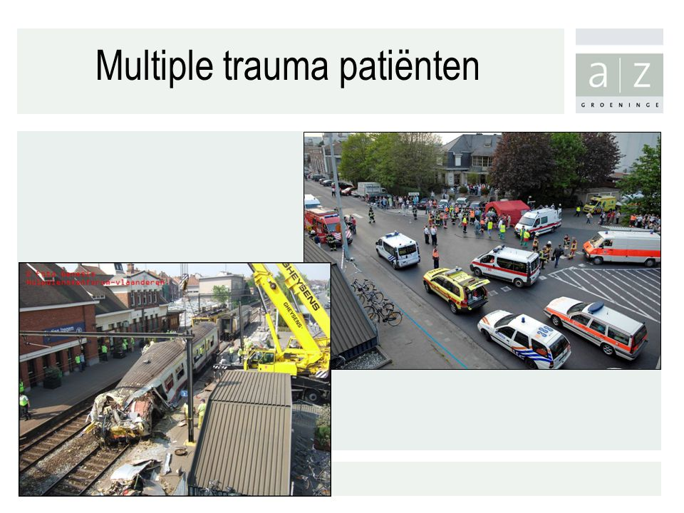 Multiple trauma patiënten