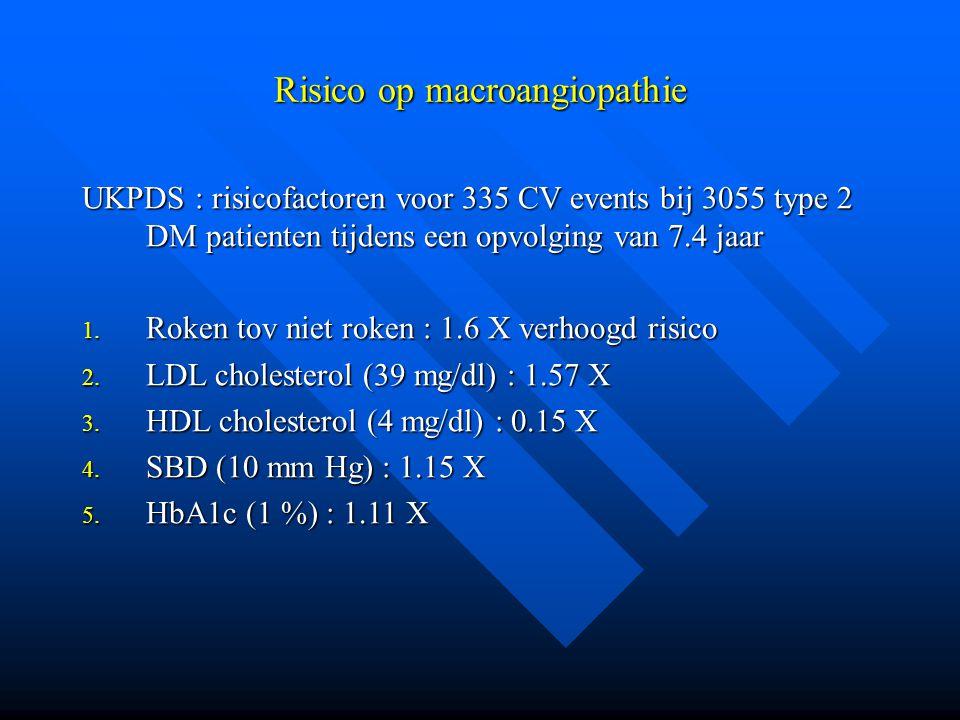 Risico op macroangiopathie