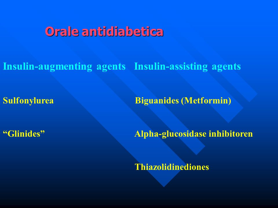 Orale antidiabetica Insulin-augmenting agents Insulin-assisting agents