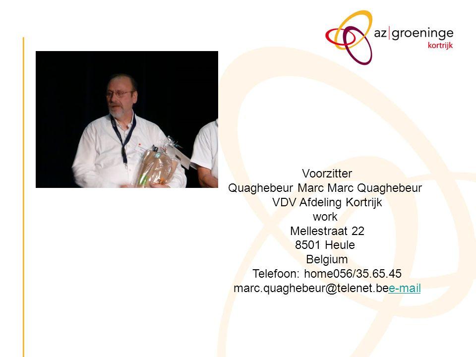 Quaghebeur Marc Marc Quaghebeur VDV Afdeling Kortrijk work