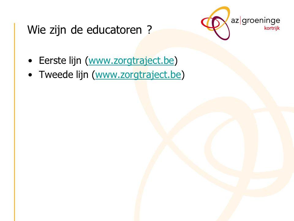 Wie zijn de educatoren Eerste lijn (www.zorgtraject.be)