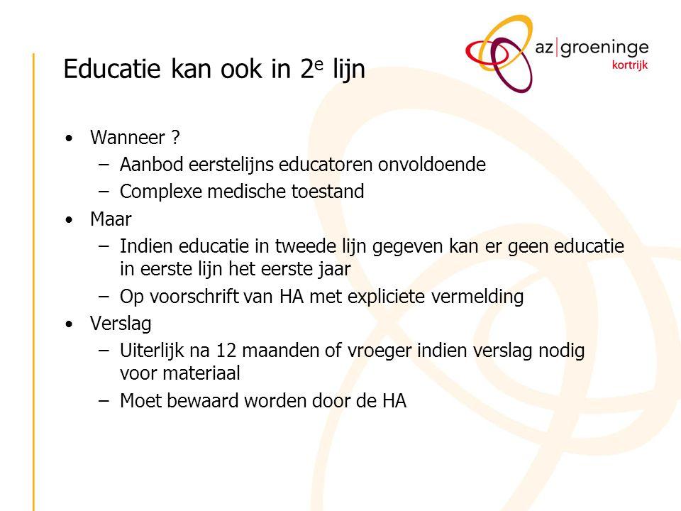 Educatie kan ook in 2e lijn
