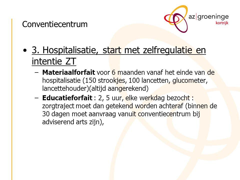 3. Hospitalisatie, start met zelfregulatie en intentie ZT