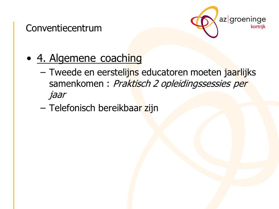 4. Algemene coaching Conventiecentrum