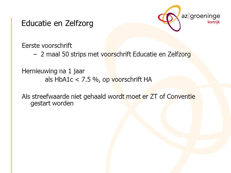 Educatie en Zelfzorg Eerste voorschrift