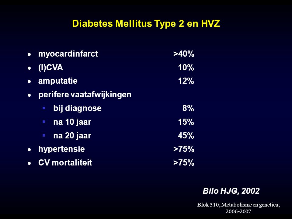Diabetes Mellitus Type 2 en HVZ