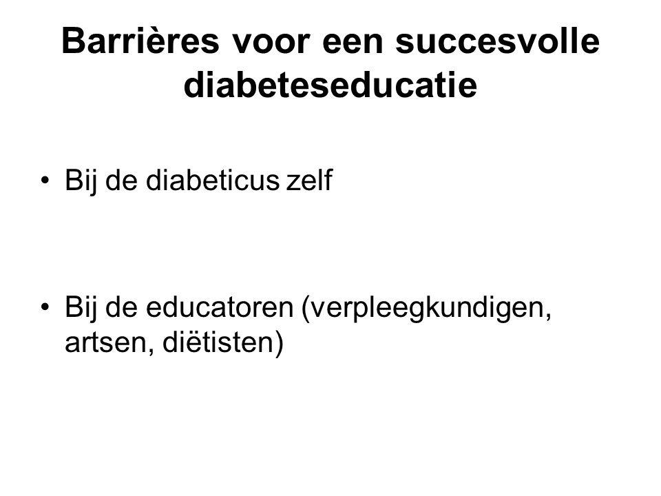 Barrières voor een succesvolle diabeteseducatie